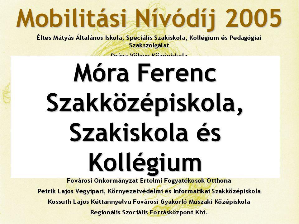 Mobilitási Nívódíj 2005 Magyar Gyula Kertészeti Szakközépiskola és Szakiskola