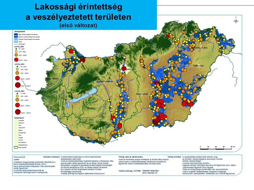 Lakossági érintettség a veszélyeztetett területen (első változat)