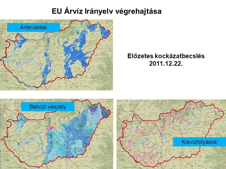 EU Árvíz Irányelv végrehajtása Előzetes kockázatbecslés 2011.12.22. Kisvízfolyások Belvízi veszély Árterületek