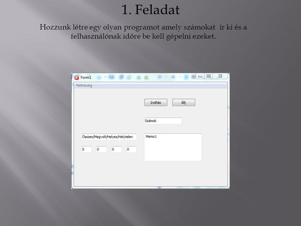 Első lépésként válasszuk a File/New/Vcl form menüpontot!