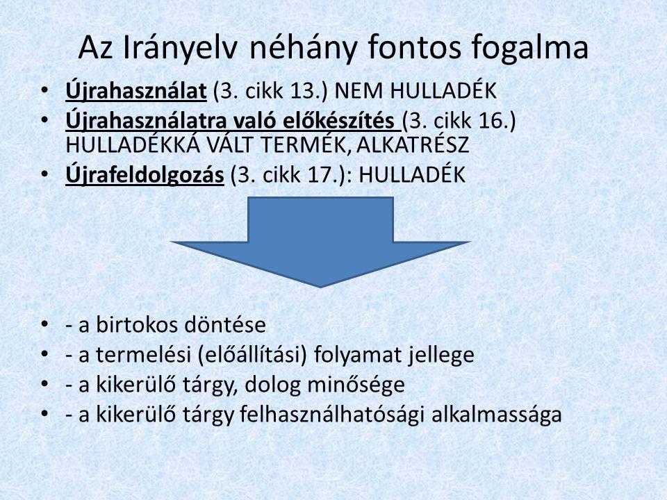 Magyar jogszabályi környezet (hatályos) A környezet védelmének általános szabályairól szóló 1995.