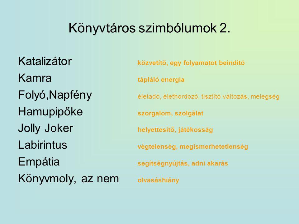 Könyvtáros szimbólumok 2.