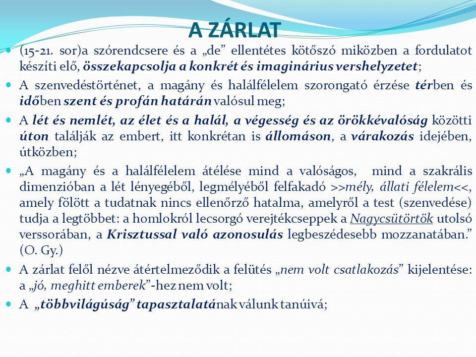 A ZÁRLAT (15-21.