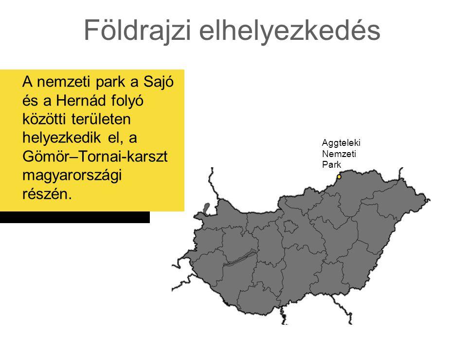 Földrajzi elhelyezkedés A nemzeti park a Sajó és a Hernád folyó közötti területen helyezkedik el, a Gömör–Tornai-karszt magyarországi részén. Aggtelek
