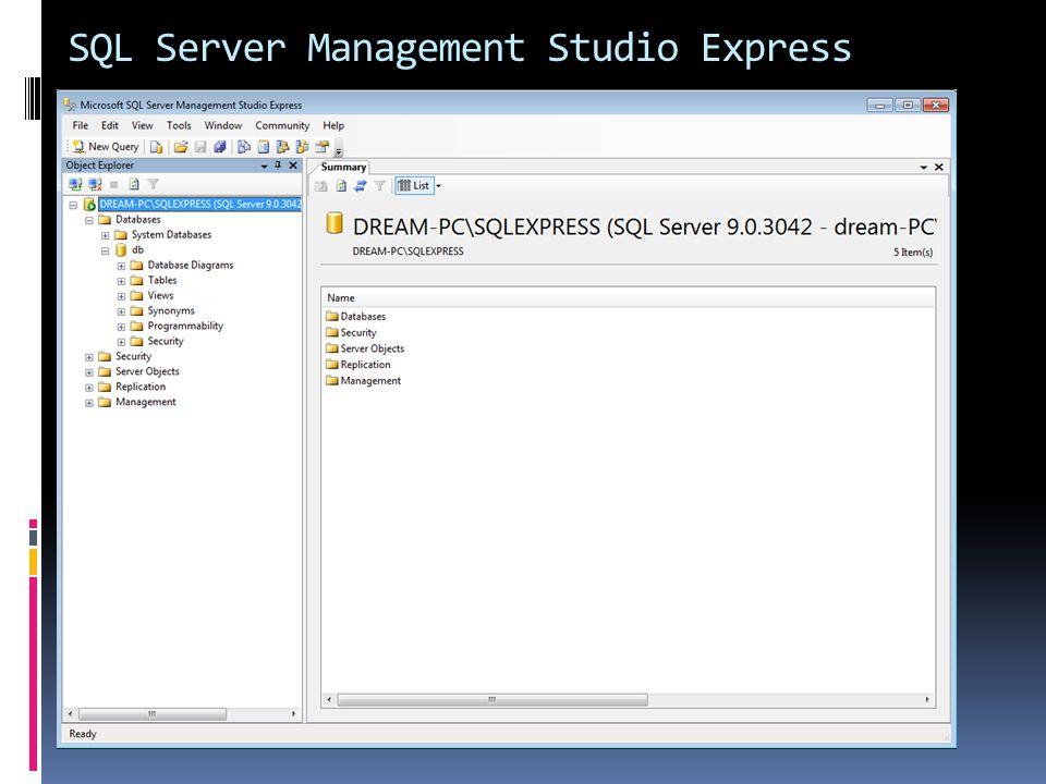 SQL Server Management Studio Express