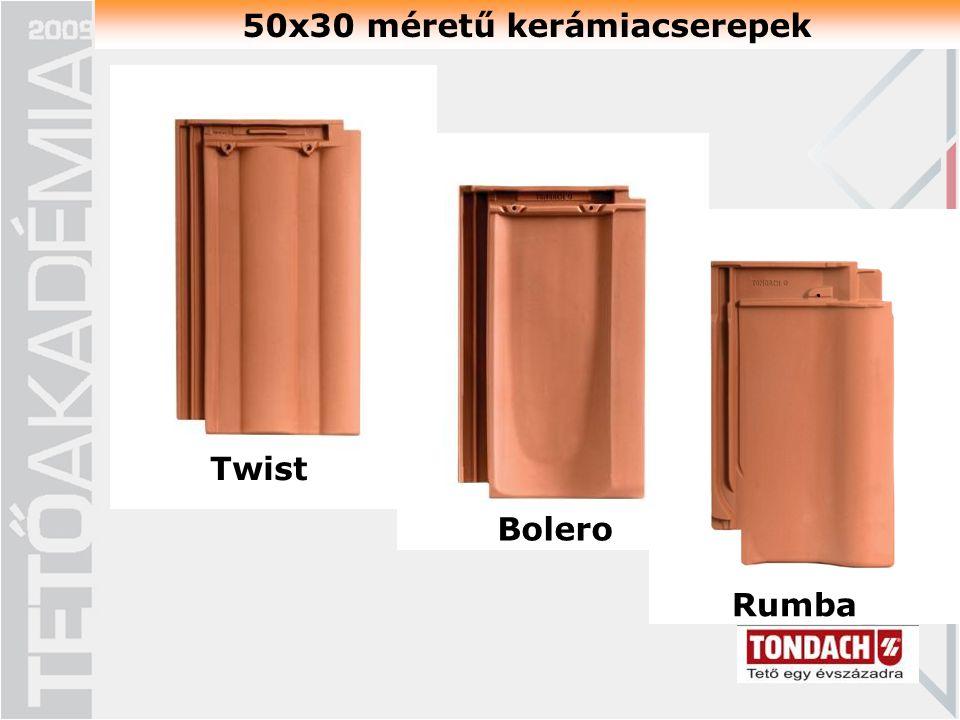 50x30 méretű kerámiacserepek Twist Bolero Rumba