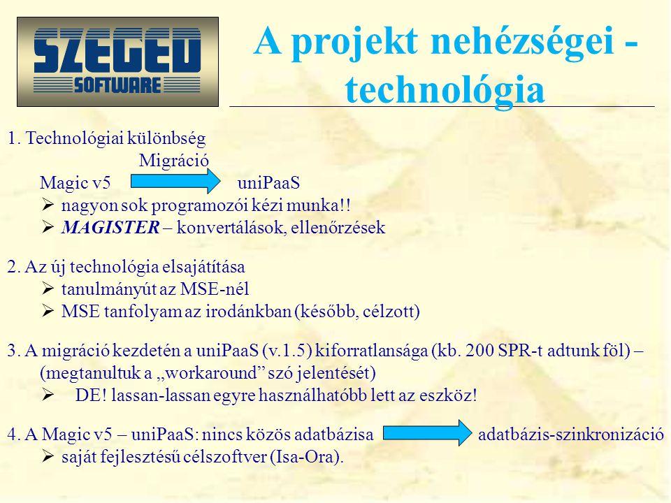 Mi a migrációs projekt. Mérföldkövek:  előkészítés: 2007.