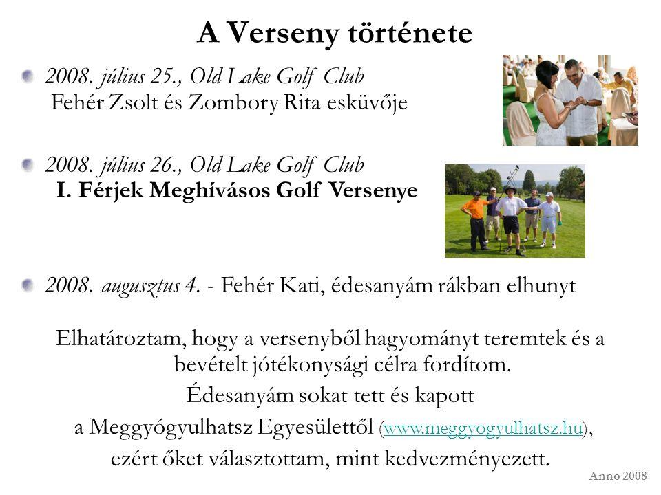 2008. július 25., Old Lake Golf Club Fehér Zsolt és Zombory Rita esküvője 2008. július 26., Old Lake Golf Club I. Férjek Meghívásos Golf Versenye 2008