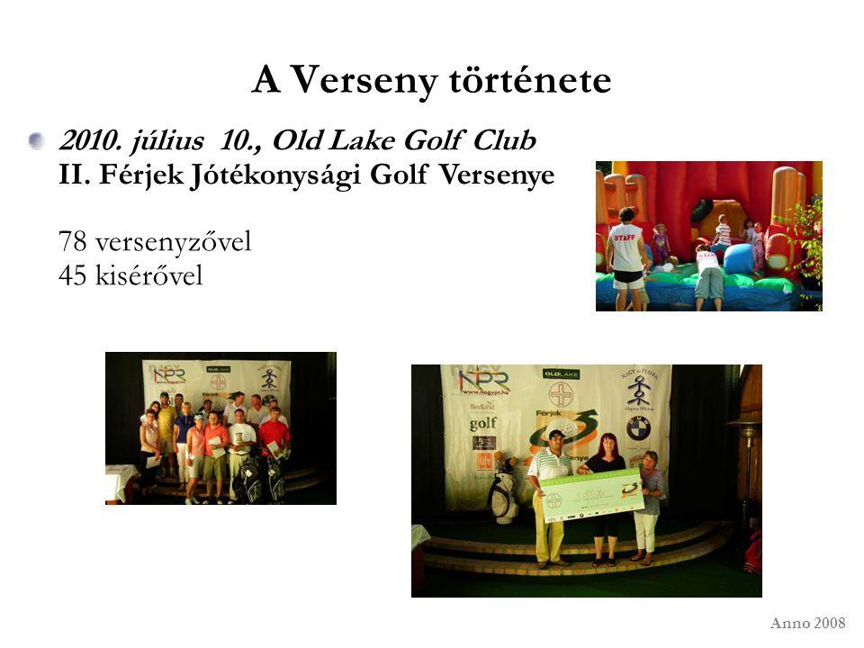 A Verseny története 2010. július 10., Old Lake Golf Club II. Férjek Jótékonysági Golf Versenye 78 versenyzővel 45 kisérővel Anno 2008