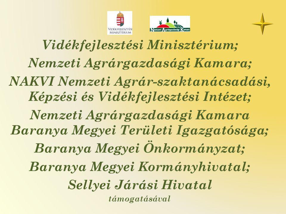 Vidékfejlesztési Minisztérium; Nemzeti Agrárgazdasági Kamara; NAKVI Nemzeti Agrár-szaktanácsadási, Képzési és Vidékfejlesztési Intézet; Nemzeti Agrárg