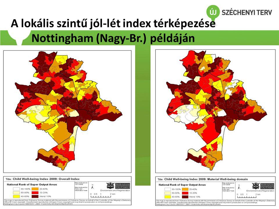 A lokális szintű jól-lét index térképezése Nottingham (Nagy-Br.) példáján