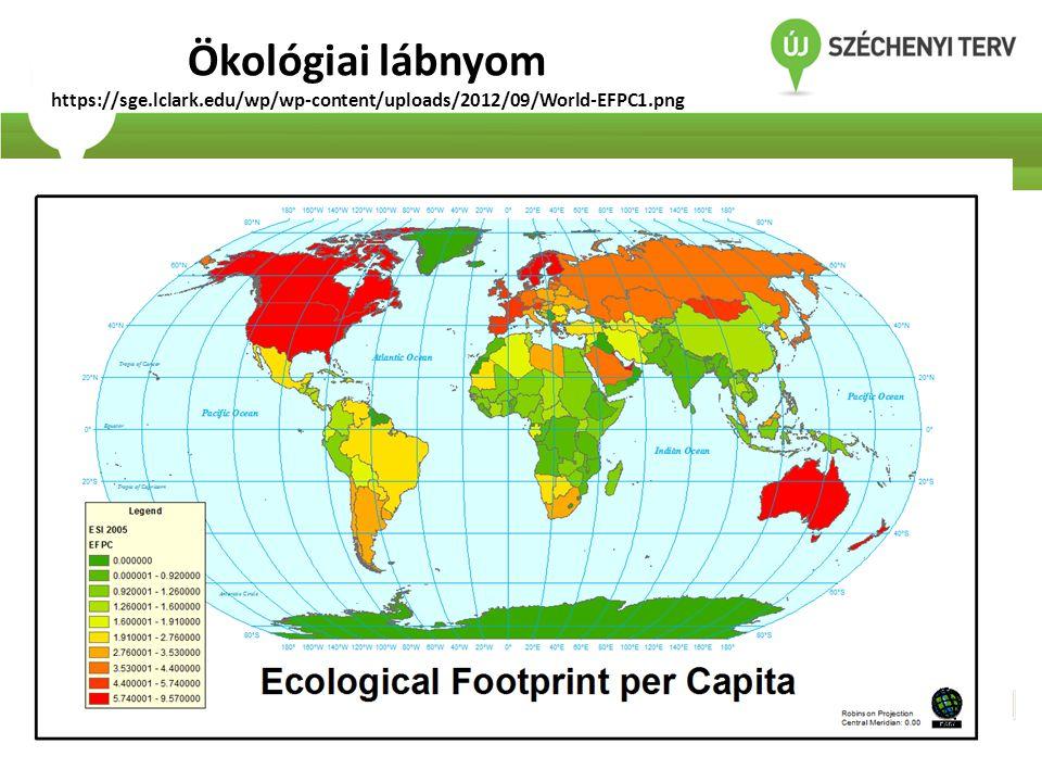 Ökológiai lábnyom https://sge.lclark.edu/wp/wp-content/uploads/2012/09/World-EFPC1.png
