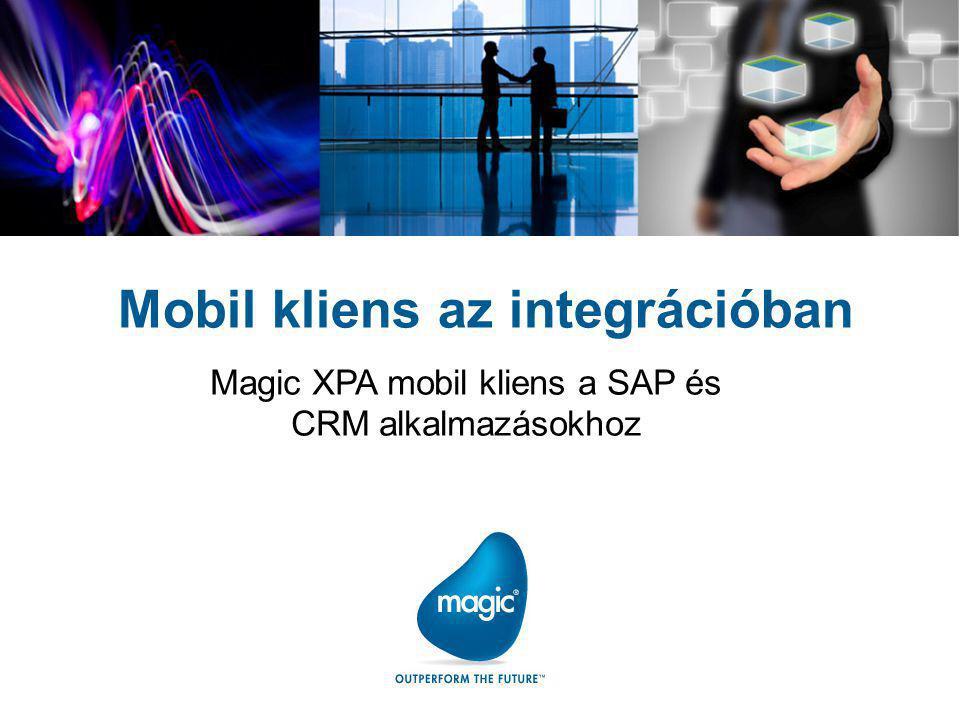 Tartalom Feladat Mobil alkalmazások Architektúra Workflow Fejlesztések MAGIC XPA (uniPaaS) Magic XPI (iBOLT) Demonstráció Következtetések