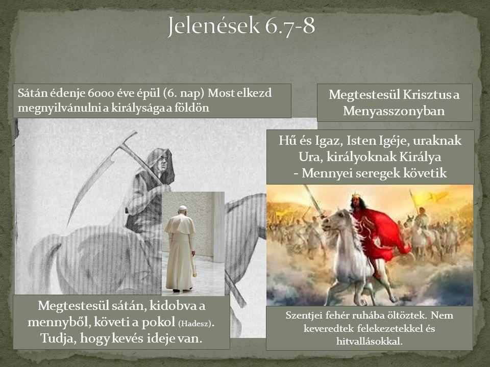 Hű és Igaz, Isten Igéje, uraknak Ura, királyoknak Királya - Mennyei seregek követik Megtestesül Krisztus a Menyasszonyban Megtestesül sátán, kidobva a