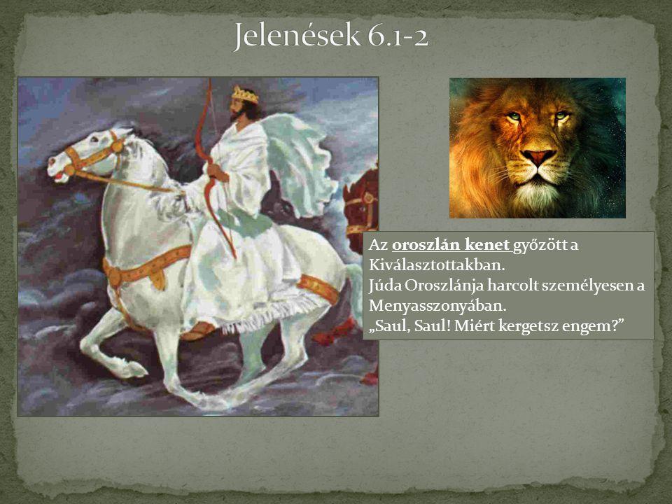 """Az oroszlán kenet győzött a Kiválasztottakban. Júda Oroszlánja harcolt személyesen a Menyasszonyában. """"Saul, Saul! Miért kergetsz engem?"""""""