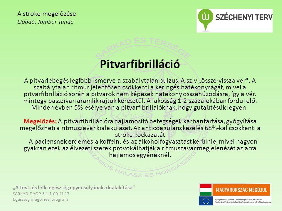 """Pitvarfibrilláció A pitvarlebegés legfőbb ismérve a szabálytalan pulzus. A szív """"össze-vissza ver"""