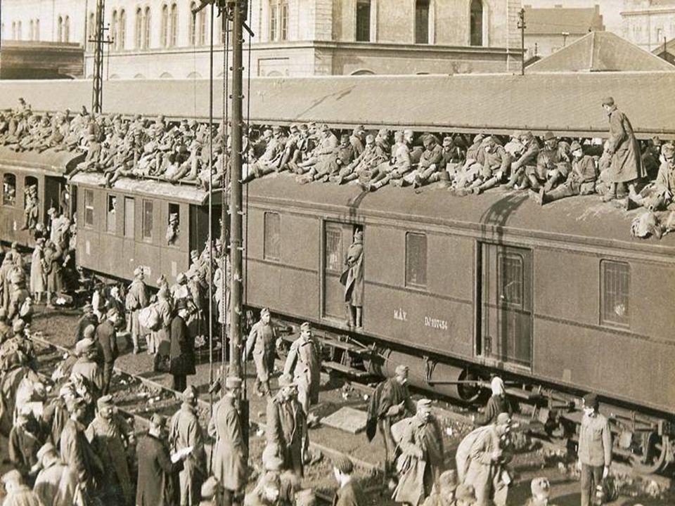  A háborús vereség a dualista állam összeomlását okozta  nemzeti tanácsok alakulása  1918.