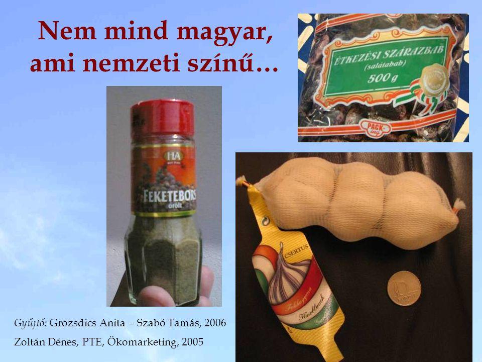 Nem mind magyar, ami nemzeti színű… Gyűjtő: Grozsdics Anita – Szabó Tamás, 2006 Zoltán Dénes, PTE, Ökomarketing, 2005