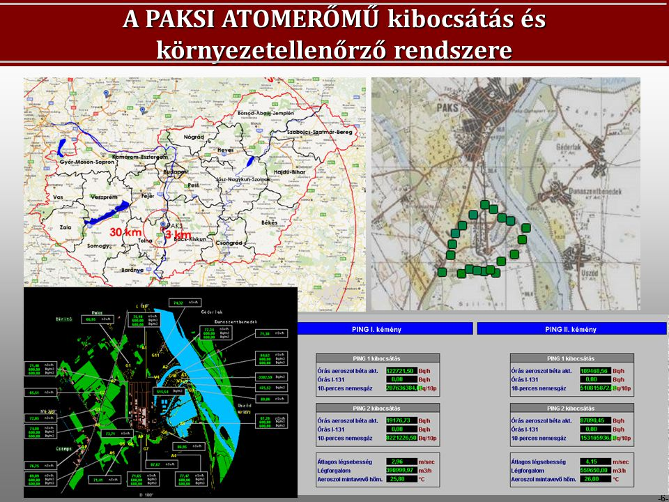 -6- A PAKSI ATOMERŐMŰ kibocsátás és környezetellenőrző rendszere