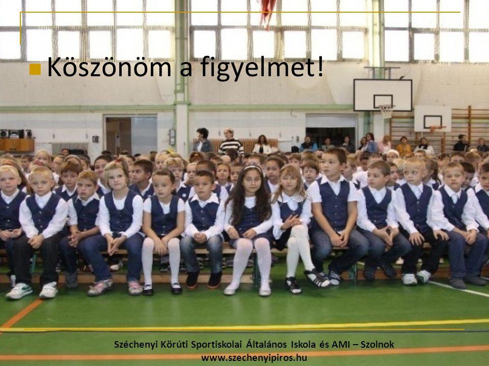 Köszönöm a figyelmet! Széchenyi Körúti Sportiskolai Általános Iskola és AMI – Szolnok www.szechenyipiros.hu