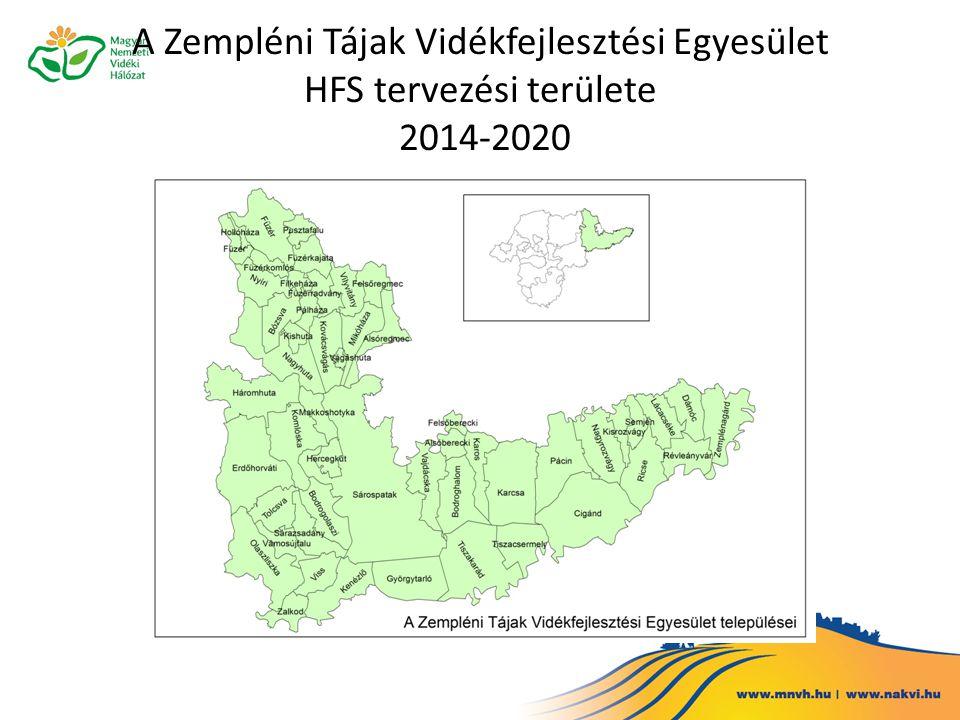 A Zempléni Tájak Vidékfejlesztési Egyesület HFS tervezési területe 2014-2020