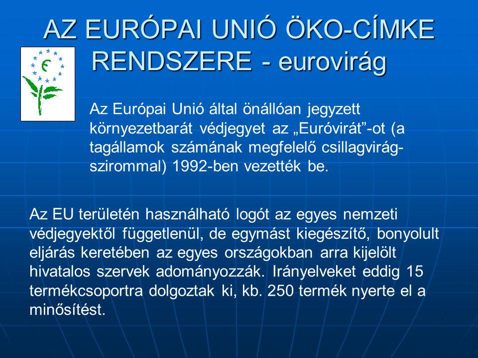 """AZ EURÓPAI UNIÓ ÖKO-CÍMKE RENDSZERE - eurovirág Az Európai Unió által önállóan jegyzett környezetbarát védjegyet az """"Euróvirát""""-ot (a tagállamok számá"""