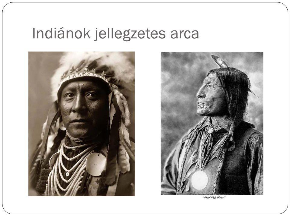 Indiánok jellegzetes arca