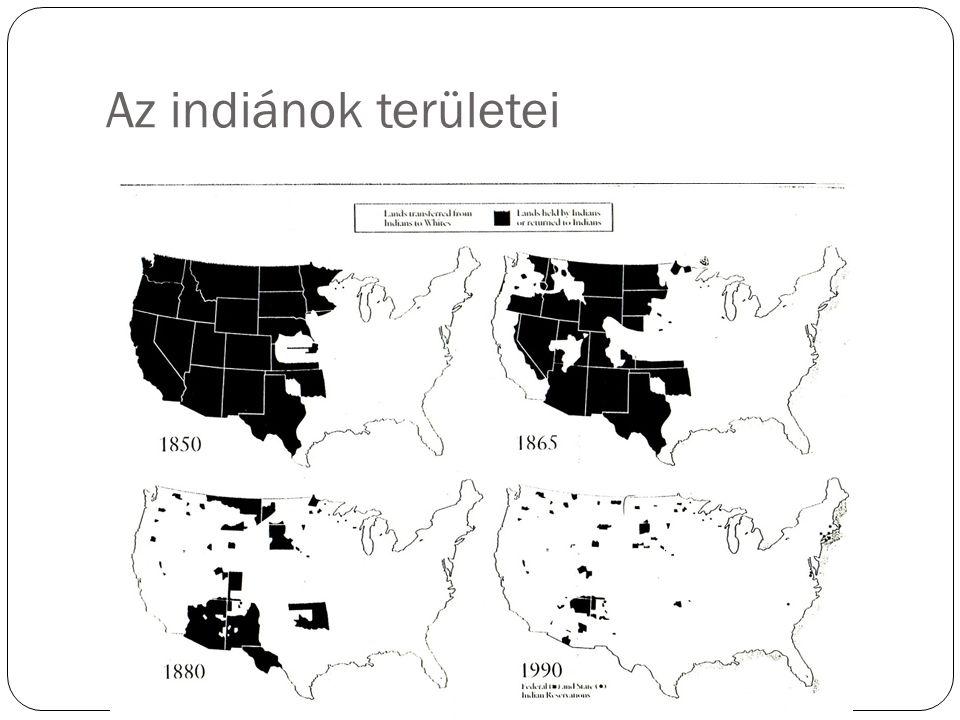 Az indiánok területei