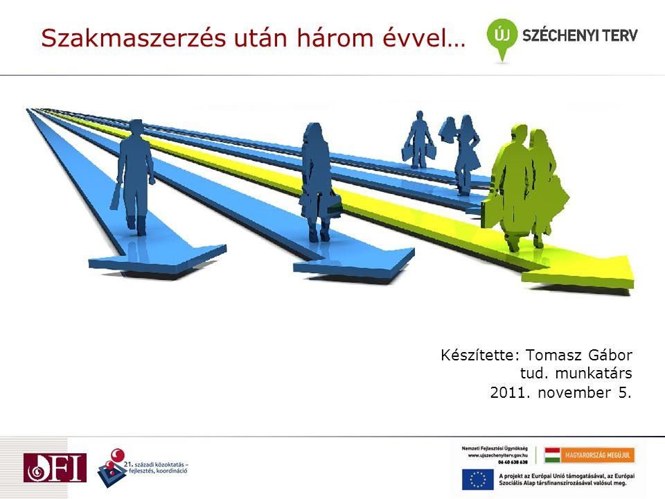 Szakmaszerzés után három évvel… Készítette: Tomasz Gábor tud. munkatárs 2011. november 5.