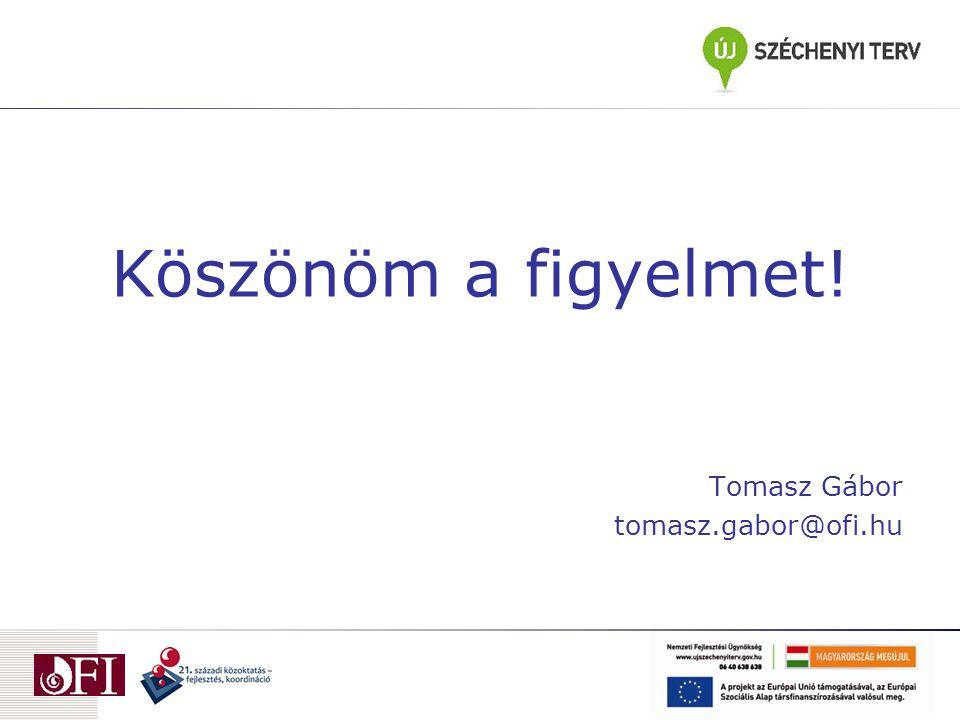 Köszönöm a figyelmet! Tomasz Gábor tomasz.gabor@ofi.hu