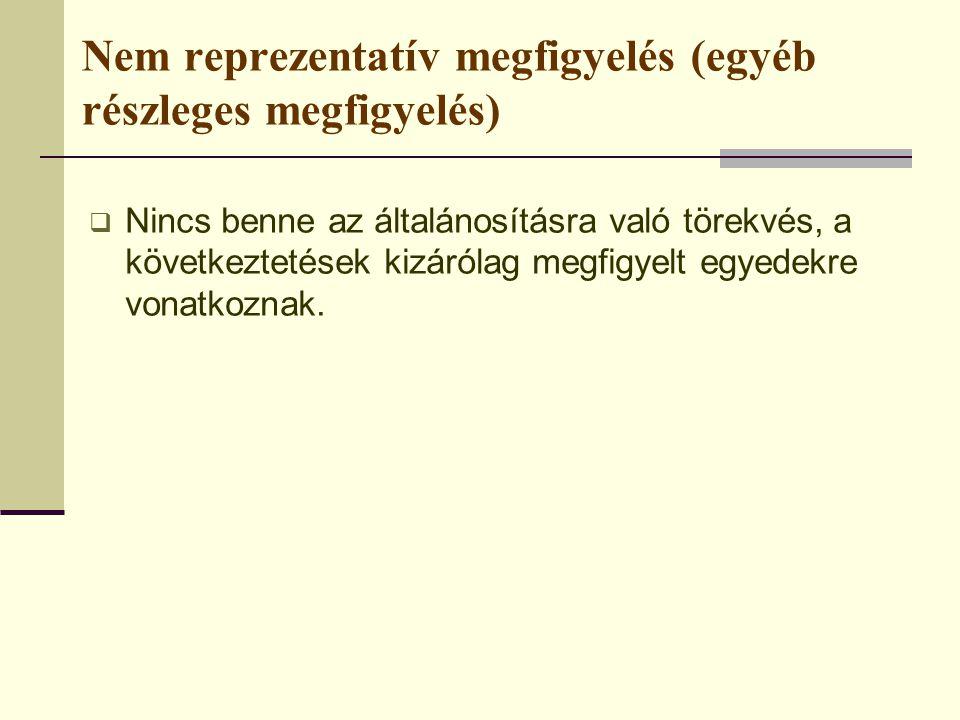 3.Neyman-féle optimális rétegzés Jellemzői:  A szórások alapján osztja a mintát.
