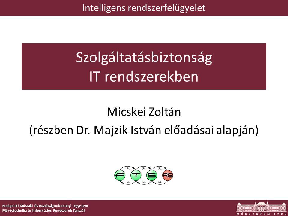 1 Budapesti Műszaki és Gazdaságtudományi Egyetem Méréstechnika és Információs Rendszerek Tanszék Szolgáltatásbiztonság IT rendszerekben Micskei Zoltán (részben Dr.