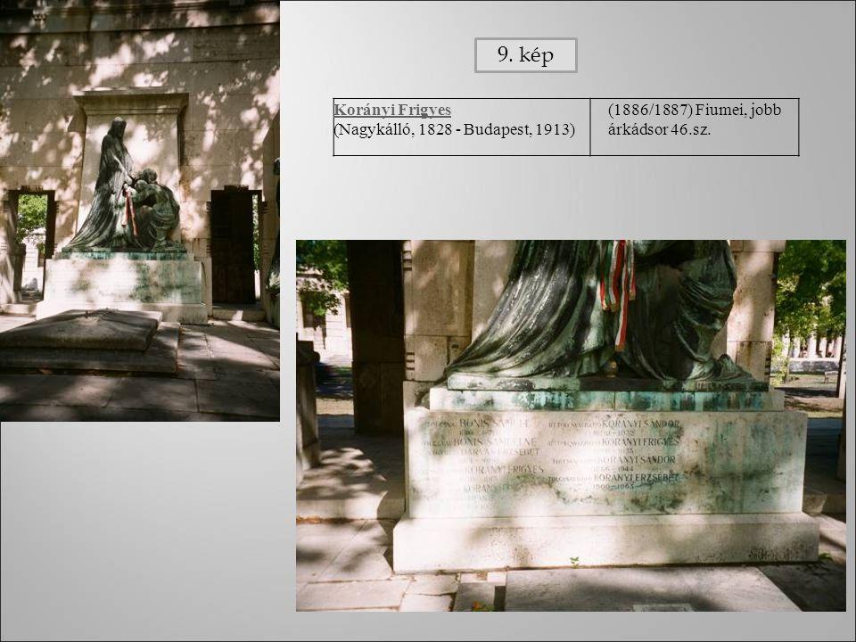 Korányi Frigyes (Nagykálló, 1828 - Budapest, 1913) (1886/1887) Fiumei, jobb árkádsor 46.sz. 9. kép