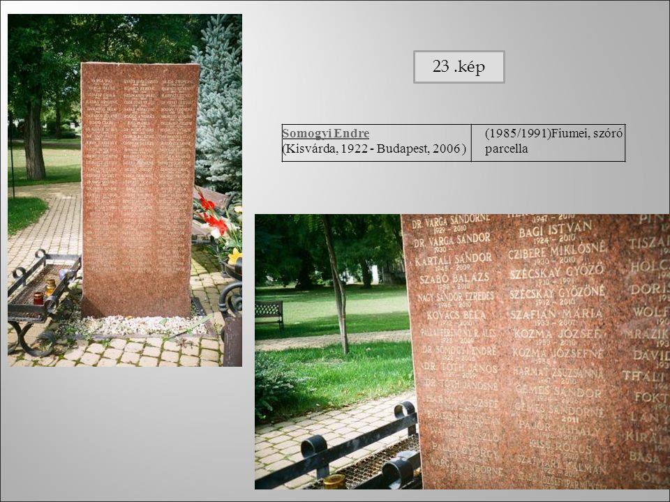 Somogyi Endre (Kisvárda, 1922 - Budapest, 2006 ) (1985/1991)Fiumei, szóró parcella 23.kép