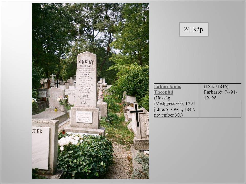 Fabini János Theophil (Hasság /Medgyesszék/, 1791. július 5. - Pest, 1847. november 30.) (1845/1846) Farkasrét 7/- 91- 19- 98 24. kép