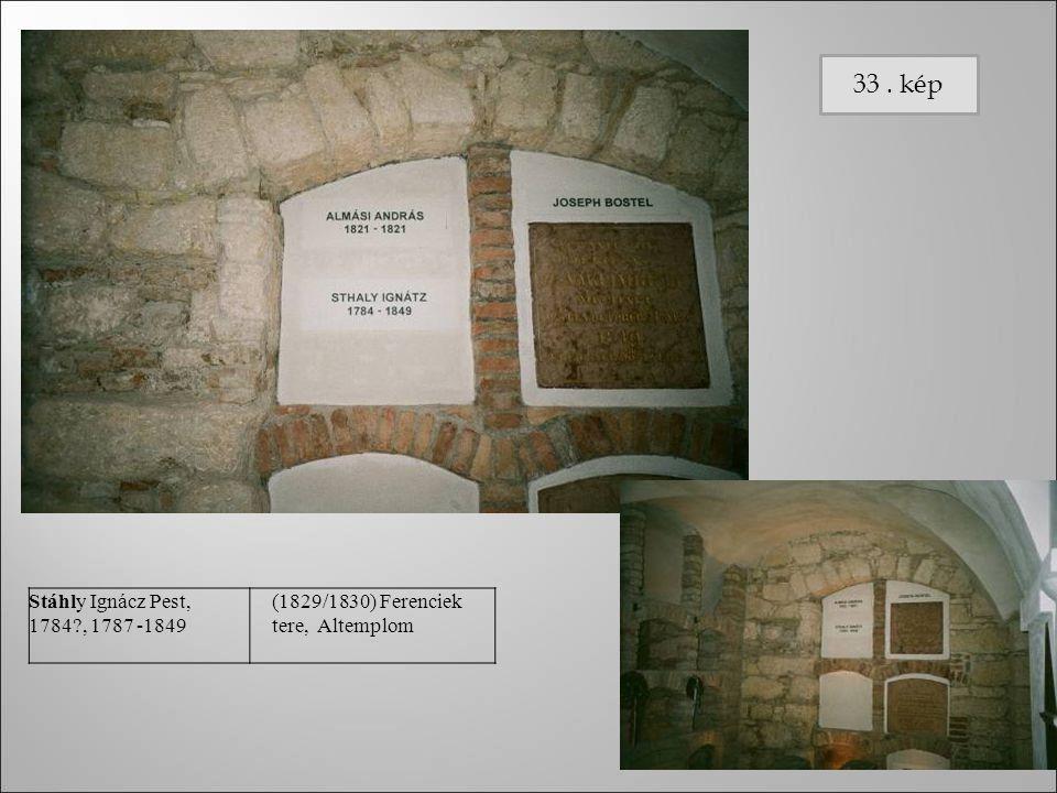 Stáhly Ignác z Pest, 1784?, 1787 -1849 (182 9/18 30) Fere ncie k tere, Alte mplo m foto Stáhly Ignácz Pest, 1784?, 1787 -1849 (1829/1830) Ferenciek te