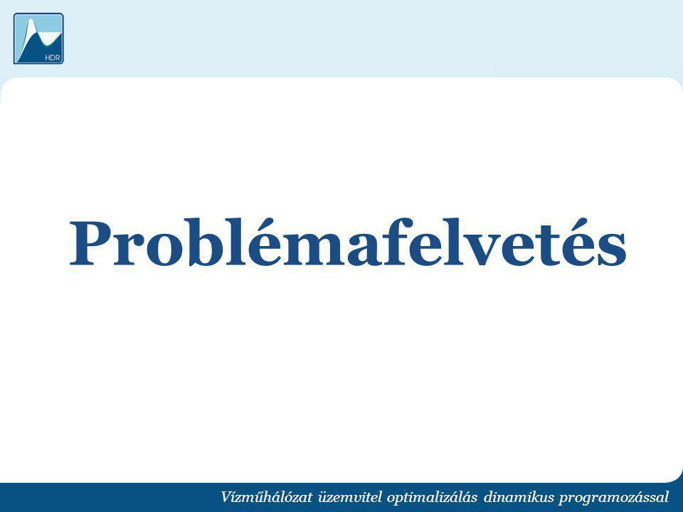 Problémafelvetés Vízműhálózat üzemvitel optimalizálás dinamikus programozással