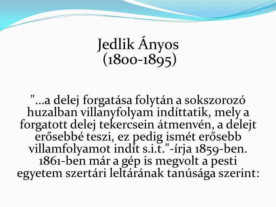 Jedlik Ányos (1800-1895)