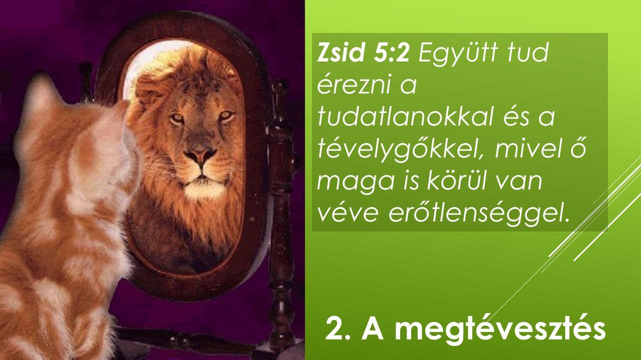 Zsid 5:2 Együtt tud érezni a tudatlanokkal és a tévelygőkkel, mivel ő maga is körül van véve erőtlenséggel. 2. A megtévesztés