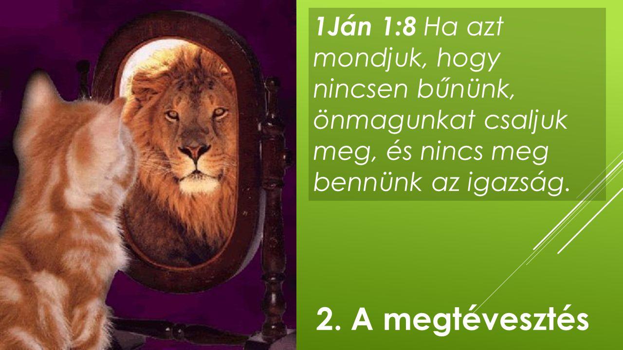 1Ján 1:8 Ha azt mondjuk, hogy nincsen bűnünk, önmagunkat csaljuk meg, és nincs meg bennünk az igazság. 2. A megtévesztés