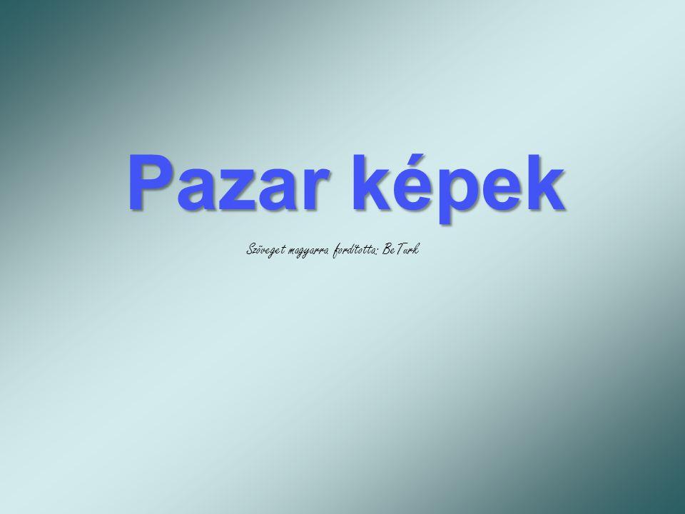 Pazar képek Szöveget magyarra fordította: BeTurk