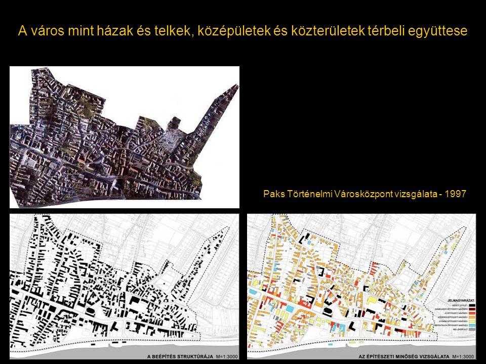 A város mint házak és telkek, középületek és közterületek térbeli együttese Paks Történelmi Városközpont vizsgálata - 1997