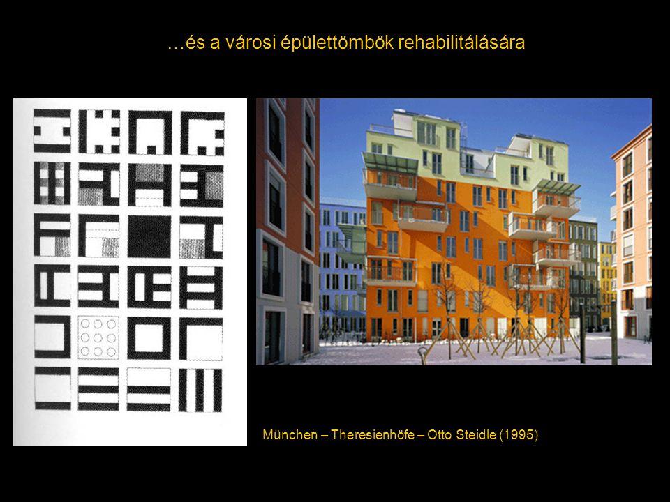 …és a városi épülettömbök rehabilitálására München – Theresienhöfe – Otto Steidle (1995)