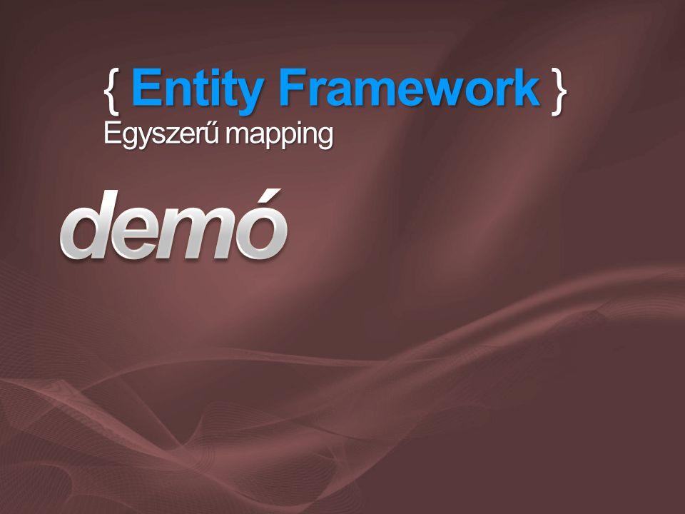 { Entity Framework } Egyszerű mapping