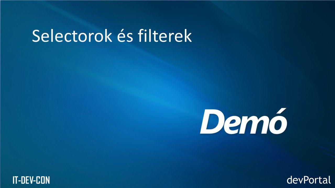 IT-DEV-CON Selectorok és filterek