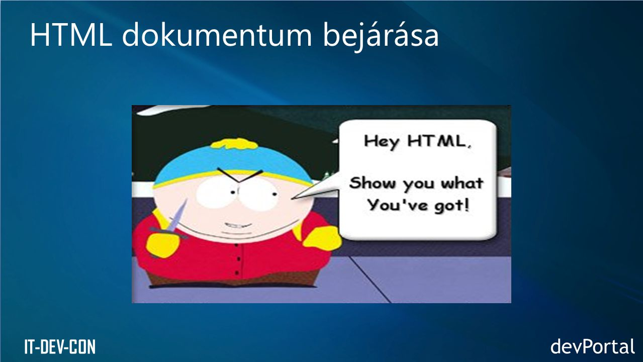 IT-DEV-CON HTML dokumentum bejárása