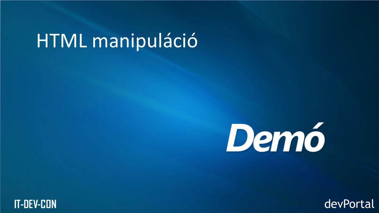 IT-DEV-CON HTML manipuláció