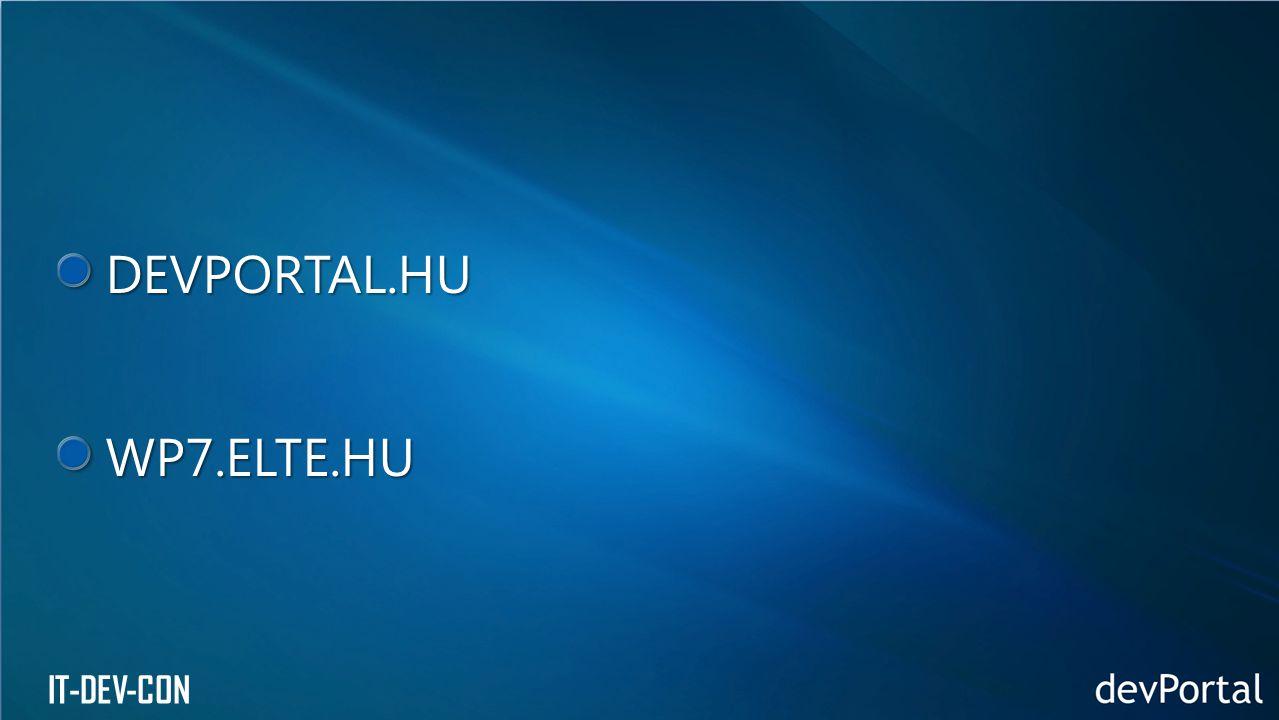 DEVPORTAL.HUWP7.ELTE.HU