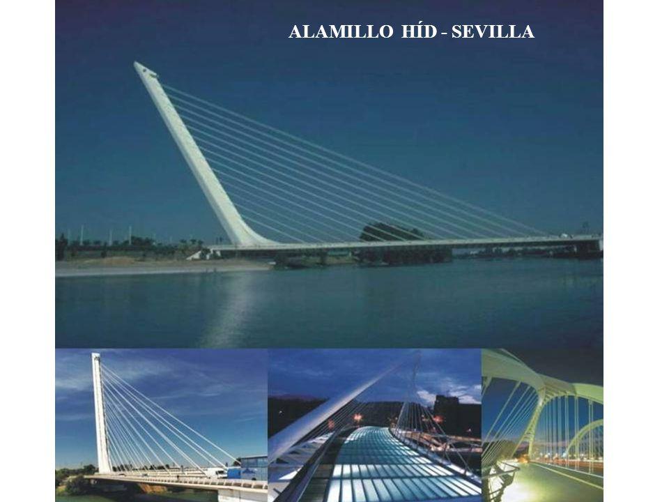 Alamillo híd – Sevilla, Spanyolország 1987 ÷ 1992