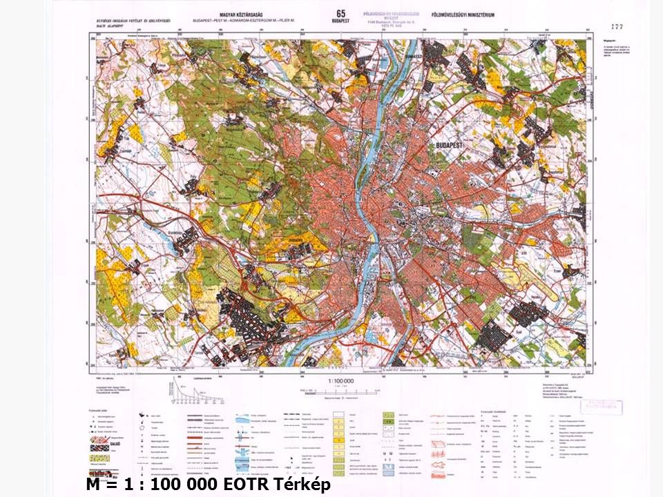 M = 1 : 100 000 EOTR Térkép